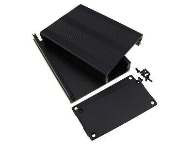 Hq Aluminum Project Box Enclosure Diy 100x76x35mm - Black