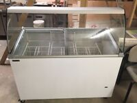 TEFCOLD IC400sce 9 Pan display freezer with canopy only used 3mth brought from new .