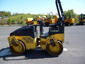2008 Bomag BW120AD-4 Double drum roller c/w Lights, ROPS