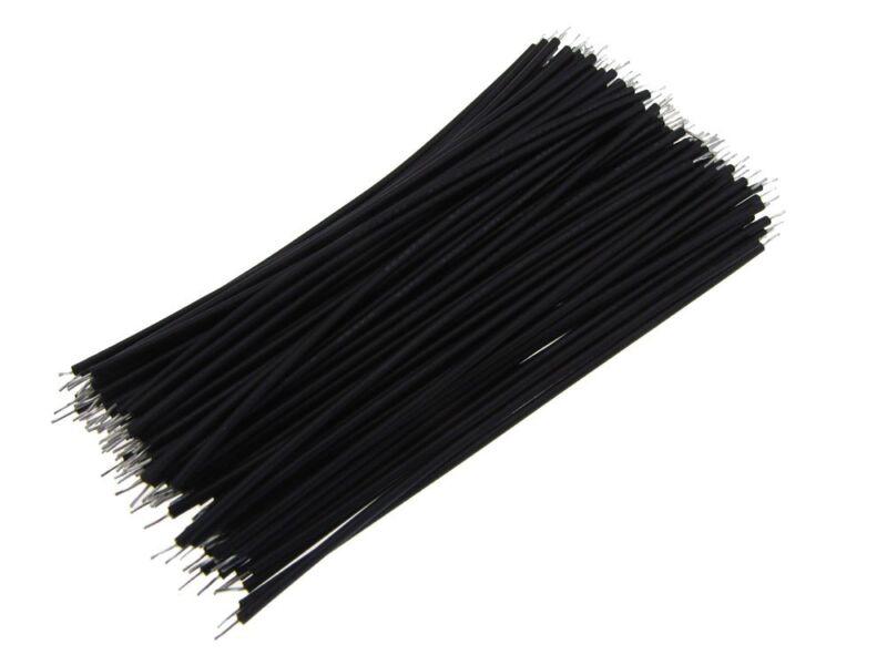 【10CM】 24AWG Standard Jumper Wire Pre-cut Pre-soldered - Black - Pack of 100