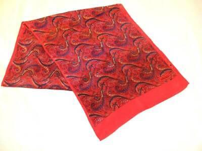 Vintage Scarf Styles -1920s to 1960s Vintage Designs by Van Horn Scarf 100% Silk 11x52