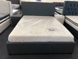 Clearance !! Brand New Blue Fabric Beds (EH-9042)