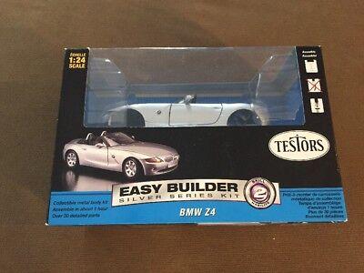 Testors Easy Builder Silver Series Kit BMW Z4 Model Kit~1:24 Scale W/Box