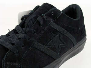 new-Converse-Academy-OX-vtg-black-suede-leather-mens-skate-shoes-sneakers-NIB