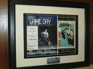 Dave Keon Signed St. Mike's Honouree Ltd. Editon Framed Piece