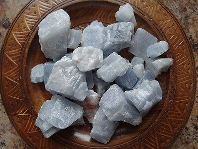 BLUE CALCITE 1/4 Lb Raw Gemstone Specimens Wiccan Pagan Metaphysical
