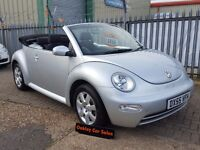 VOLKSWAGEN BEETLE 1.6 CONVERTIBLE 3 DOOR MANUAL PETROL IN SILVER (silver) 2006