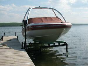 CUSTOM NEW CANTILEVER PONTOON, BOAT AND WAKEBOARD BOAT LIFTS Edmonton Edmonton Area image 2