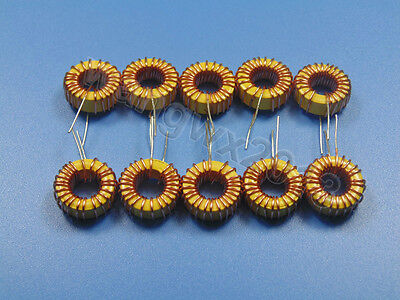 10pcs 22uh 3a Coil Wire Wrap Toroidal Inductor Choke For Diy Amplifier Crossover
