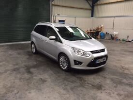 2013 Ford C-Max grand Titanuium 2.0tdci 7 seater low miles guaranteed cheapest in country