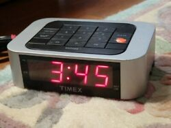 Timex SimpleSet™ Direct Entry Alarm Clock T123S LED Display - Tested and Works