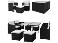 *FAST AND FREE DELIVERY* Poly Rattan 8 Seater German Cube Garden Set - BRAND NEW