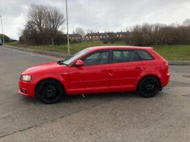 Audi A3 s line diesel five door high motorway mimles half leathers mot six speed