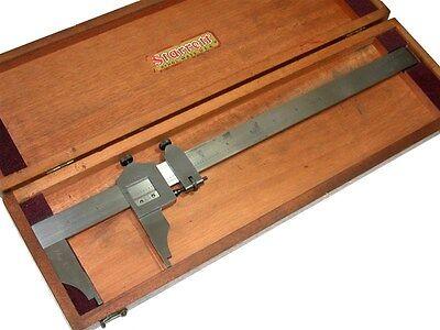 Starrett 12 Master .001 Inside Outside Measuring Vernier No.122 W Case