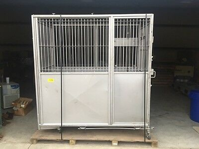 Allentown Caging Stainless Steel Ss Lab Vet Animal Cage Crate Large Dog Animal
