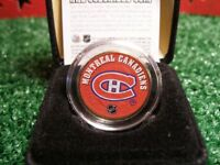 Colourized Montreal Canadiens Coin