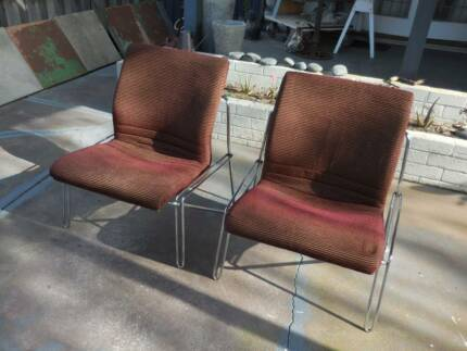 Set of 4 Retro 1970's Chrome Occasional Chairs Bayswater Area Preview