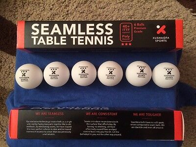 2 Boxes of 6 New Plastic Xushaofa 3 Star Seamless Table Tennis Balls