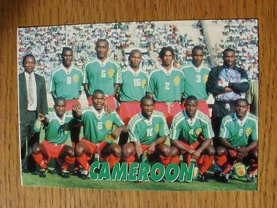 1998 World Cup Thai Postcard: Cameroon - Colour Team Group On Front, Original Ba