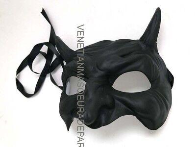 Demon Devil Masquerade mask costume dress up Black White DIY Paint Party Mask](Diy Devil Costume)