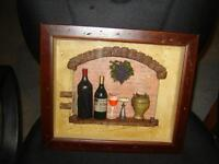 SHADOW BOX WITH BAR ITEMS/UNIQUE ITEM/PICTURES