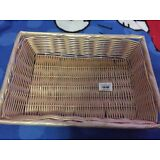 Lot of 12! Tablecraft 1188W Rectangle Ratten Basket 14x10x3 NEW!