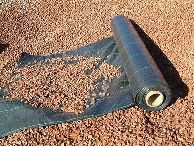 1.5m x 50m 100gsm WOVEN WEED CONTROL FABRIC / DRIVEWAY PATH GARDEN MEMBRANE