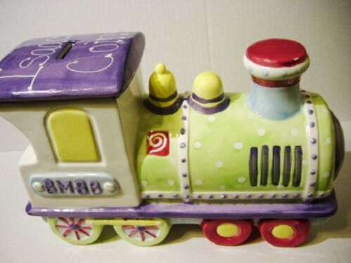 Railroad Steam Engine Piggy Bank