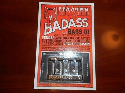 LEO QUAN® Badass Bass IIl~4-String Bass~Black~Fender PJ Bass~4 Bonus Saddles~New
