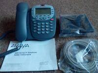AVAYA 4610SW IP Corded Telephone Business Desk Phone - GREY