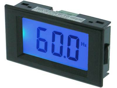 Panel Meter Lcd Frequency 300vac 10-199hz Blue Blacklight 32406 Me