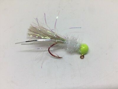 Trout and Bass Stumps Red Wasp Crappie 4 pack of hand tied 1//16 jigs Gills