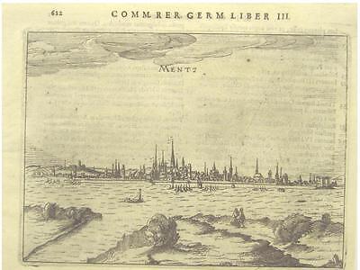 Orig.Kupferstich aus Bertius ca.1616 MAINZ GESAMTANS