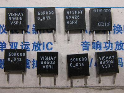 Lot Of 10 60k000 Vishay Vsrj Series Bulk Metal Foil Precision Resistors 0.01