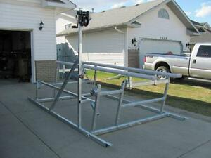CUSTOM NEW CANTILEVER PONTOON, BOAT AND WAKEBOARD BOAT LIFTS Edmonton Edmonton Area image 4