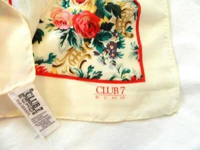 Vintage Scarf Styles -1920s to 1960s Vintage Club 7 Echo Scarf 100% Silk Japan 30