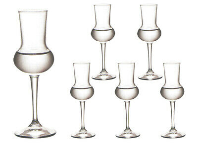 6 Riserva Grappagläser Grappaglas Schnapsgläser Obstlerglas Obstbrandglas 80 ml