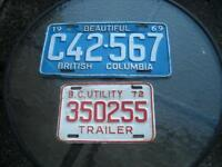 1972 BC LICENCE PLATE....TRAILER PLATE