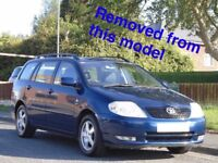 TOYOTA COROLLA T3 2.0 D4D BLUE ESTATE BREAKING FOR ALL PARTS