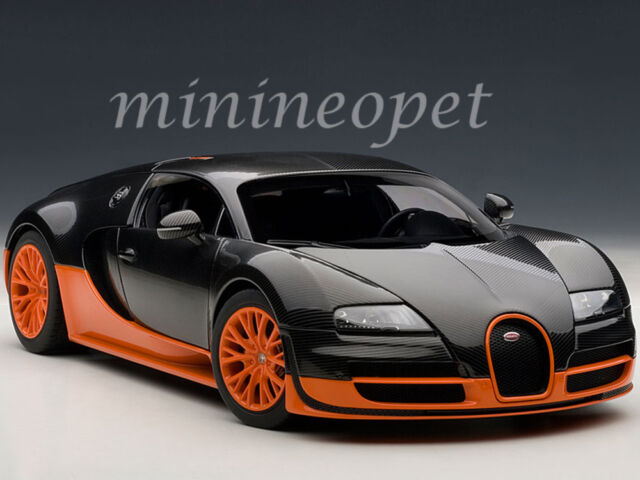 autoart 70936 bugatti veyron super sport model car black orange ebay. Black Bedroom Furniture Sets. Home Design Ideas