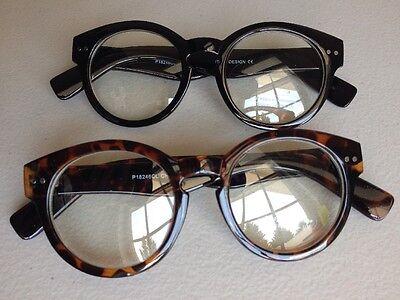 Italy Design Fashion Clear Lens Retro Plastic Frame Eye (Italy Design Glasses)