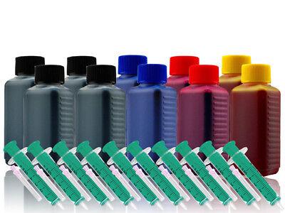 Farbe Brother Tinte (1000ml Nachfüllfarbe Refill-Kit für BROTHER LC-221BK C M Y Patrone)