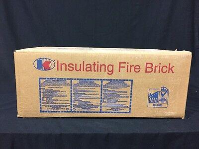 """K-20 Insulating Firebrick 9"""" x 4.5"""" x 2.5"""" Thermal Ceramics Fire Brick Box Of 25"""