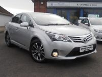2015 Toyota Avensis Icon Business Edition 2.0 D-4D 4 Door Saloon In Silver SAT NAV