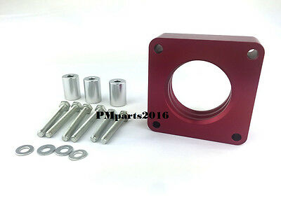 Red Throttle Body Spacer Fit Jeep Grand Cherokee WJ XJ Wrangler YJ 25 40L All