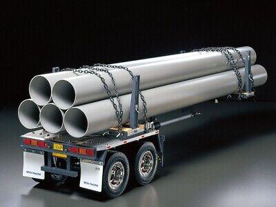 Tamiya 1/14 Pole Trailer Para Tractor Camión Con / Luz De Acabado...