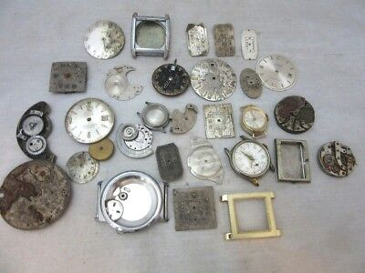 Lot of random destash Steam Punk, mixed media watch parts