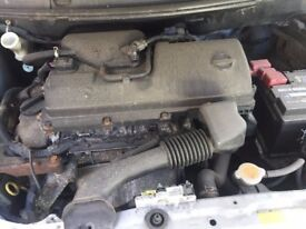 NISSAN MICRA S 2004 1.2 16V ENGINE LOW MILES BREAKING VEHICLE FOR PARTS
