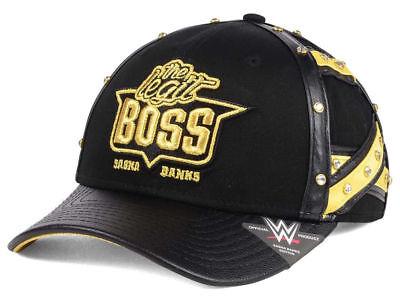 WWE The Legit Boss Sasha Banks Black & Gold Youth / Kids Snapback Hat Cap