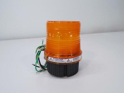 Federal Signal Fireball Ii Strobe Warning Light Amber 120v Fb2pst